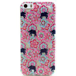 Fun gélový obal na iPhone 5s a iPhone 5 - slony - 1