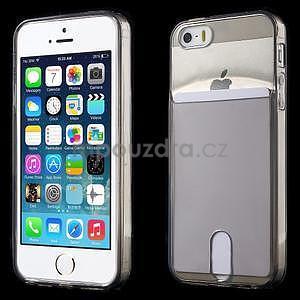 Ultra tenký obal s vreckom pre iPhone 5 a 5s - šedý - 1
