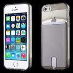 Ultra tenký obal s vreckom pre iPhone 5 a 5s - šedý - 1/6