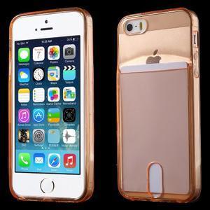 Ultra tenký obal s vreckom pre iPhone 5 a 5s - oranžový - 1