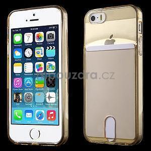 Ultra tenký obal s vreckom pre iPhone 5 a 5s - champagne - 1