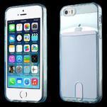 Ultra tenký obal s vreckom pre iPhone 5 a 5s - modrý - 1/6