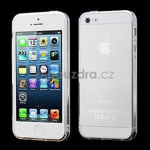Transparentný gélový obal na iPhone 5 / 5s - 1