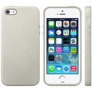 Gélový obal s textúrou na iPhone 5 a 5s - šedý - 1