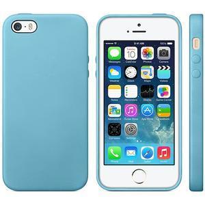 Gélový obal s textúrou na iPhone 5 a 5s - modrý - 1