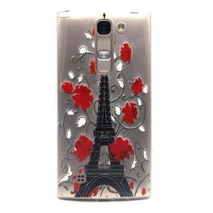 Priehľadný gélový obal na LG G4c - Eiffelova veža - 1