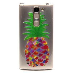 Priehľadný gélový obal na LG G4c - ananás - 1