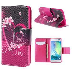 Puzdro na mobil Samsung Galaxy A3 - srdce - 1