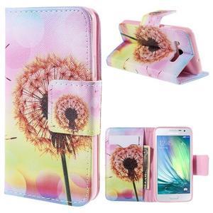 Peňaženkové púzdro na Samsung Galaxy A3 - oranžová púpava - 1