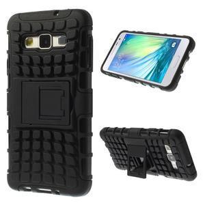 Outdoor odolný kryt na mobil Samsung Galaxy A3 - čierny - 1