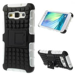 Outdoor odolný kryt na mobil Samsung Galaxy A3 - biely - 1