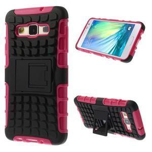 Outdoor odolný kryt pre mobil Samsung Galaxy A3 - rose - 1