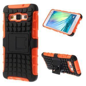 Outdoor odolný kryt pre mobil Samsung Galaxy A3    - oranžový - 1