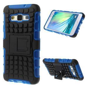 Outdoor odolný kryt pre mobil Samsung Galaxy A3 - modrý - 1