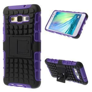 Outdoor odolný kryt na mobil Samsung Galaxy A3 - fialový - 1