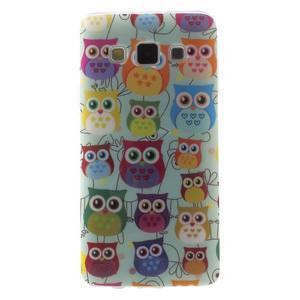 Gélový obal na mobil Samsung Galaxy A3 - sovičky - 1