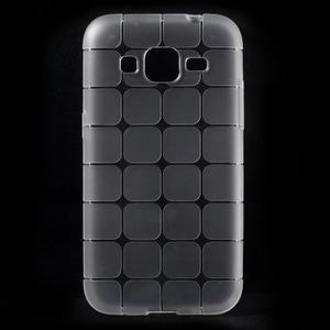 Square matný gélový obal pre Samsung Galaxy Core Prime - transparentný - 1
