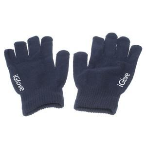 Gloves dotykové rukavice na mobil - tmavomodré - 1