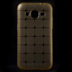 Square matný gélový obal pre Samsung Galaxy Core Prime - champagne - 1