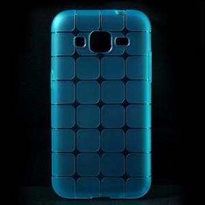 Square matný gelový obal na Samsung Galaxy Core Prime - modrý - 1