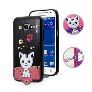 Kočička Domi obal na mobil Samsung Galaxy Core Prime - černý - 1