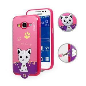 Mačička Domi obal pre mobil Samsung Galaxy Core Prime - rose - 1