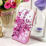 Puzdro na mobil Samsung Galaxy Core Prime - kvetoucí větvička - 1/7