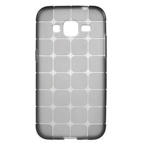 Square matný gélový obal pre Samsung Galaxy Core Prime - šedý - 1