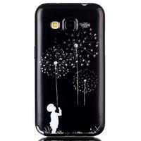 Gelový kryt na mobil Samsung Galaxy Core Prime - chlapec a pampelišky - 1/3