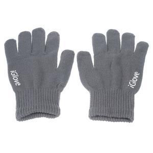 Gloves dotykové rukavice na mobil - tmavošedé - 1