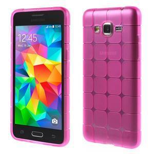Square gélový obal na Samsung Galaxy Grand Prime - rose - 1