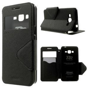 Safety puzdro s okienkom pre Samsung Galaxy Grand Prime - čierne - 1