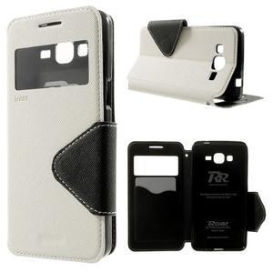 Safety puzdro s okienkom pre Samsung Galaxy Grand Prime - biele - 1
