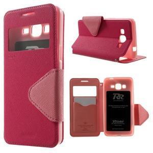 Safety puzdro s okienkom pre Samsung Galaxy Grand Prime - rose - 1