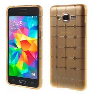 Square gélový obal pre Samsung Galaxy Grand Prime - zlatý - 1
