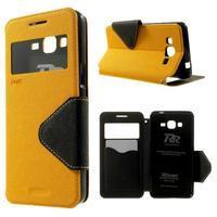 Safety puzdro s okienkom pre Samsung Galaxy Grand Prime - žlté - 1/7