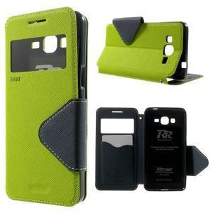 Safety puzdro s okienkom pre Samsung Galaxy Grand Prime - zelené - 1