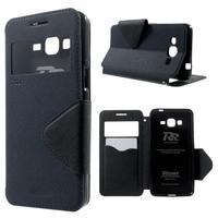 Safety puzdro s okienkom pre Samsung Galaxy Grand Prime - tmavomodré - 1/7