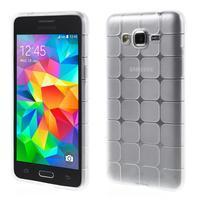 Square gélový obal na Samsung Galaxy Grand Prime biely - 1/5