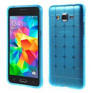 Square gélový obal pre Samsung Galaxy Grand Prime - modrý - 1