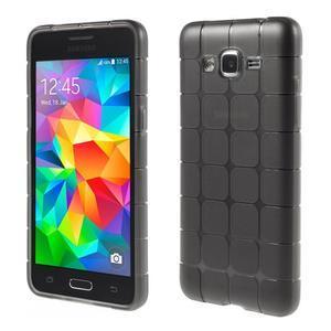Square gélový obal na Samsung Galaxy Grand Prime šedý - 1