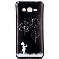 Jelly gélový obal pre mobil Samsung Galaxy Grand Prime - púpavy - 1/3
