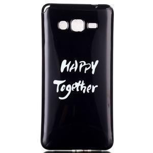 Jelly gélový obal pre mobil Samsung Galaxy Grand Prime - happy - 1