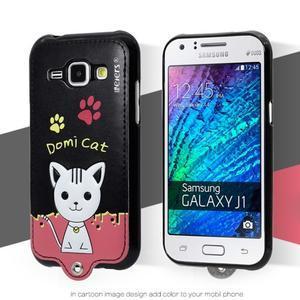 Domi gélové puzdro s mačičkou na Samsung Galaxy J1 - čierné