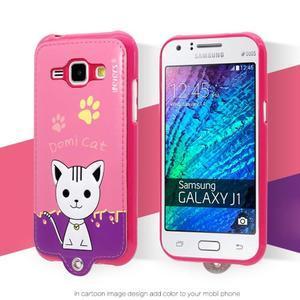 Domi gélové puzdro s mačičkou pre Samsung Galaxy J1 - rose - 1