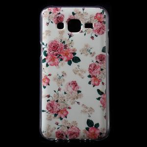 Gélové puzdro na mobil pre Samsung Galaxy J5 - kvetiny - 1