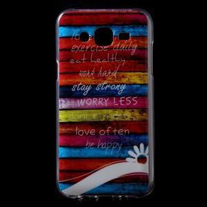 Gélové puzdro na mobil pre Samsung Galaxy J5 - farby dreva - 1