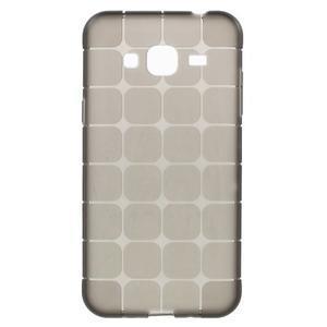 Square matný gélový obal na Samsung Galaxy J5 - šedý - 1