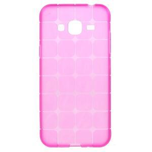 Square matný gélový obal na Samsung Galaxy J5 - rose - 1