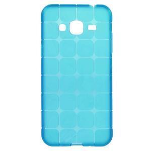 Square matný gélový obal na Samsung Galaxy J5 - modrý - 1